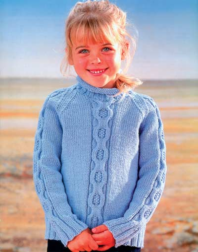 Cable Pannel Sweater Knitting Pattern Buy Instantly Online 195