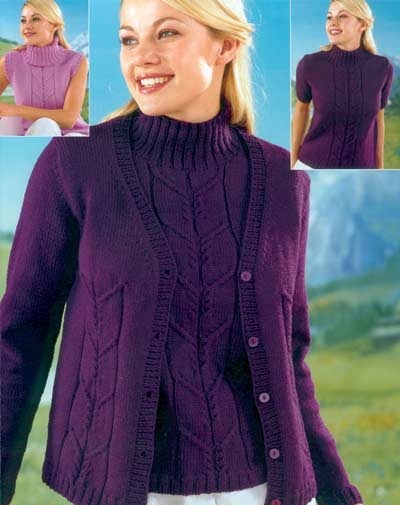 Sweaters And Cardigan Knitting Pattern Buy Instantly Online 195