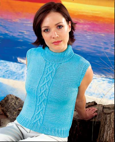 Short Sleeved Or Sleeveless Sweater Knitting Pattern Buy Instantly