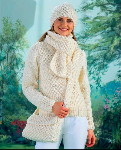Knitting Pattern For Ladies Hat And Scarf : LADIES HAT AND SCARF KNITTING PATTERNS   KNITTING PATTERN