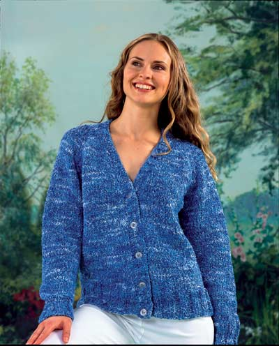 FREE KNITTING PATTERN LADIES V-NECK CARDIGAN - VERY SIMPLE FREE ...