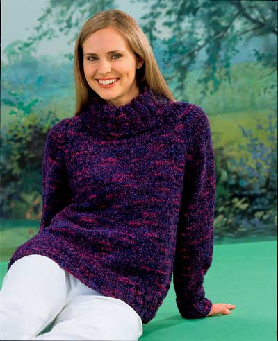 Chunky Knit Jumper Pattern Free : Raglan Polo Neck Sweater Knitting Pattern. Buy instantly online ?1.95