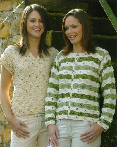 Wavy Drop Stitch Sweaters And Cardigans Knitting Pattern Buy