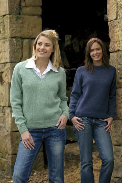 Round Neck And V Neck Sweaters Knitting Pattern Buy Instantly