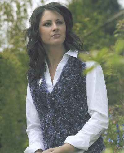 V Neck Fitted Waistcoat Knitting Pattern Buy Instantly Online 195
