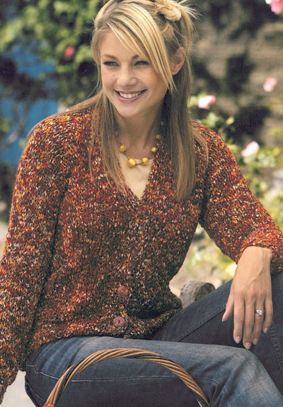 Ladys V Neck Classic Cardigan Knitting Pattern Buy Instantly