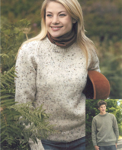 Round Neck Raglan Sweater Knitting Pattern Buy Instantly Online 195