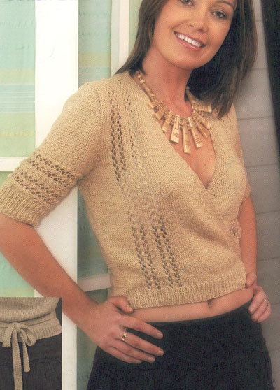 Cross Over Cardigan Knitting Pattern. Buy instantly online ...
