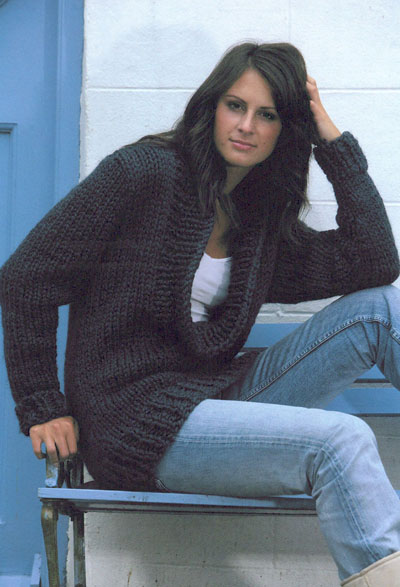 Cowl Neck Hoodie Knitting Pattern : Cowl Neck Sweater Knitting Pattern. Buy instantly online ?1.95