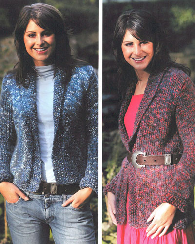 Edge To Edge Jacket In Two Lengths Knitting Pattern Buy Instantly