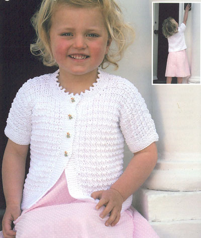 Short Sleeved Cardigans Knitting Pattern. Buy instantly online ?1.95