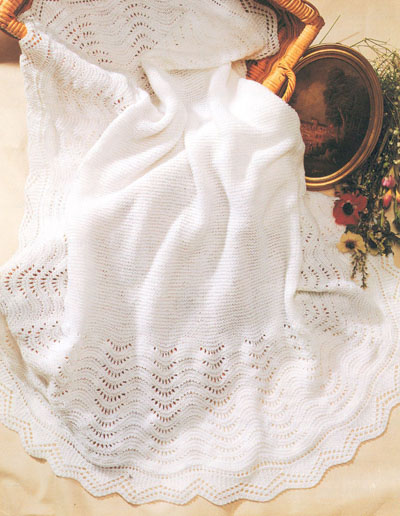 Knitting Pattern For Round Baby Shawl : Babys Shawl Knitting Pattern. Buy instantly online ?1.95