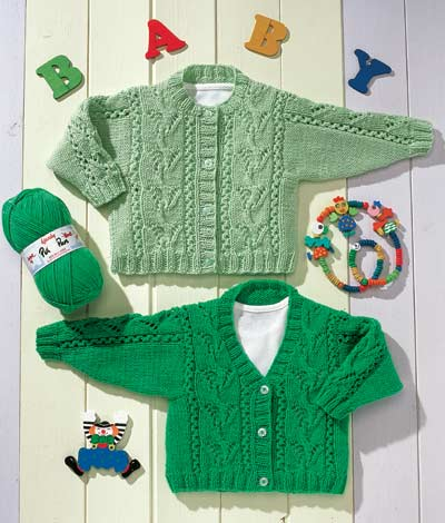 Knitting Pattern Jumper With Heart : DOUBLE KNITTING BABY CARDIGANS New Knittng Patterns